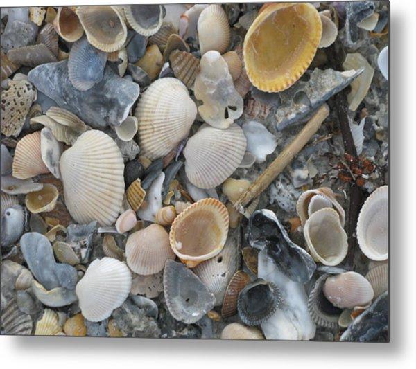 Shell Mosaic Metal Print