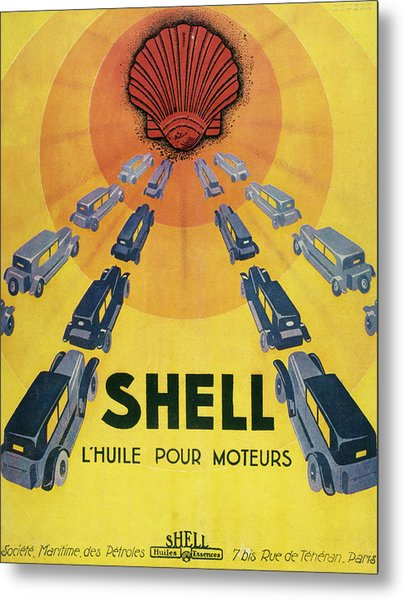 Shell Oil For Cars         Date 1929 Metal Print by Mary Evans Picture Library