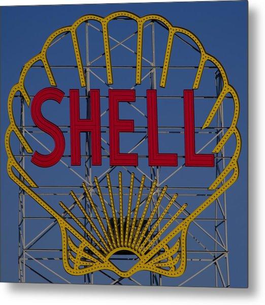 Shell Sign Cambridgeside Metal Print