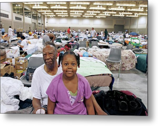 Shelter For Hurricane Katrina Survivors Metal Print by Jim West