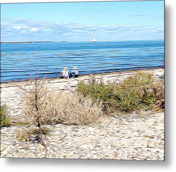 Shelter Island Beach Metal Print