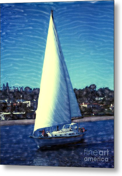 Shelter Island Sailing Metal Print