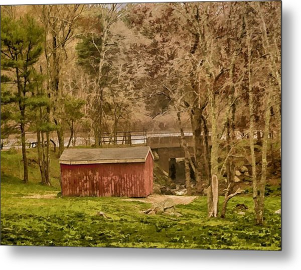 Shelter Photo Art Metal Print by Constantine Gregory