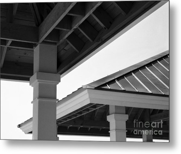 Shelters Metal Print