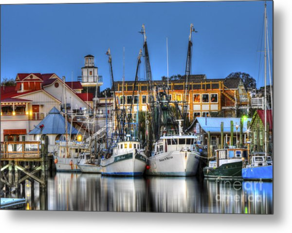 Shem Creek Metal Print