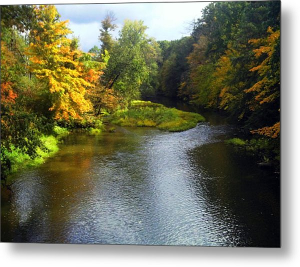 Shenago River @ Iron Bridge Metal Print