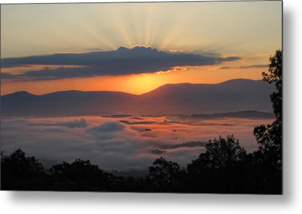Shenandoah Morning Sunrise Fog  Metal Print