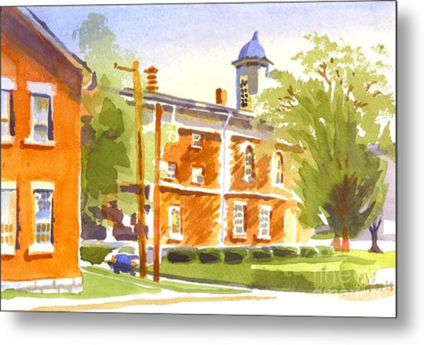 Sheriffs Residence With Courthouse II Metal Print
