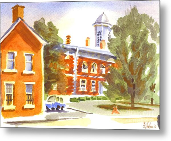 Sheriffs Residence With Courthouse Metal Print