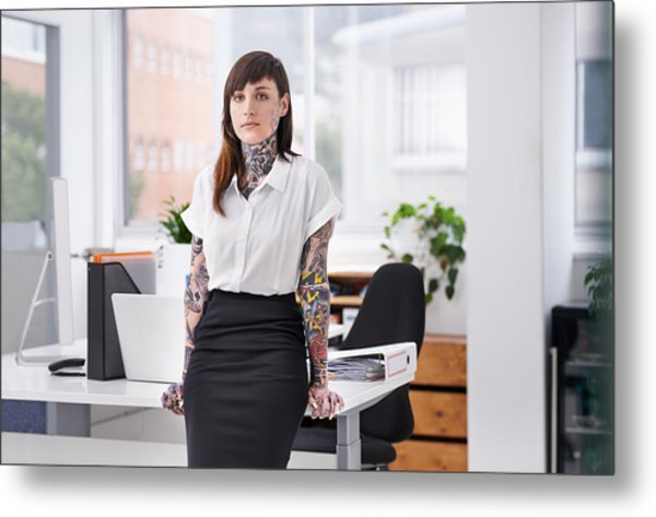 She's Ready To Rock The Corporate Scene Metal Print by PeopleImages