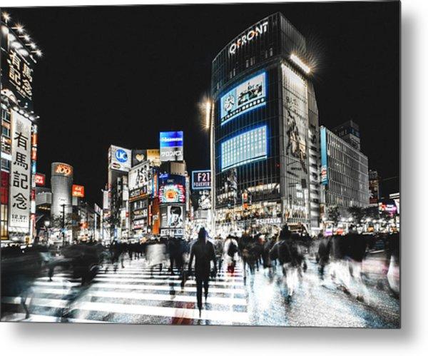 Shibuya Crossing Metal Print by Carmine Chiriac??