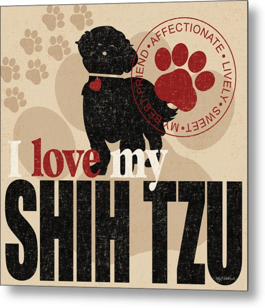 Shih Tzu Metal Print