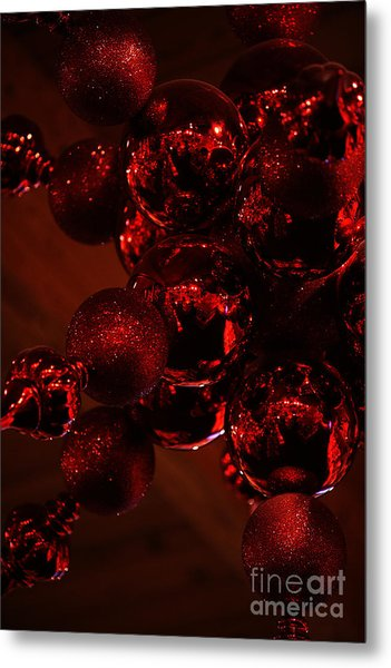 Shimmer In Red Metal Print