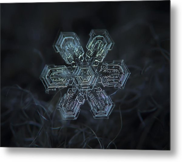 Snowflake Photo - Shine Metal Print