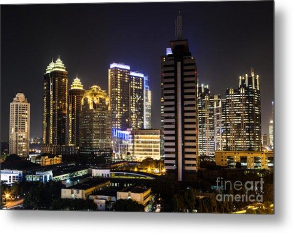 Shining Jakarta Metal Print by Asiadreamphoto