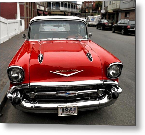 Shiny Red Chevrolet Metal Print