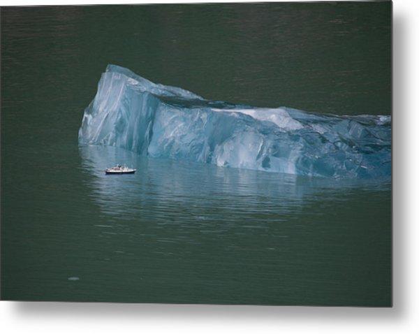 Ship And Iceberg Metal Print