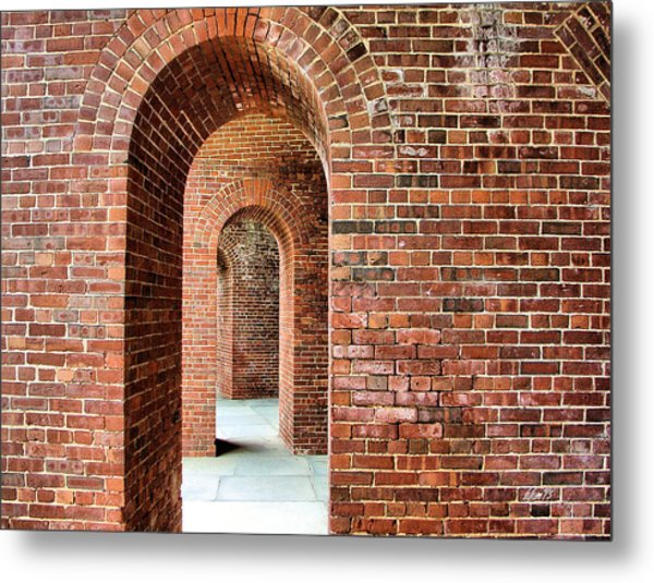 Ship Island Arches Metal Print