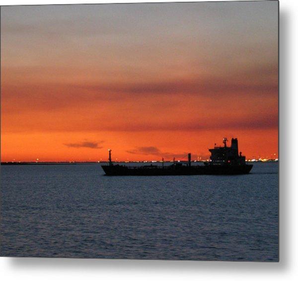Ship Outbound Metal Print
