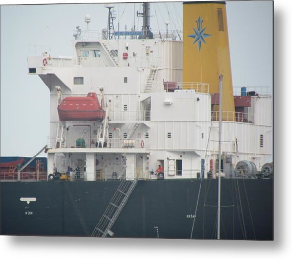 Ship Structure Metal Print