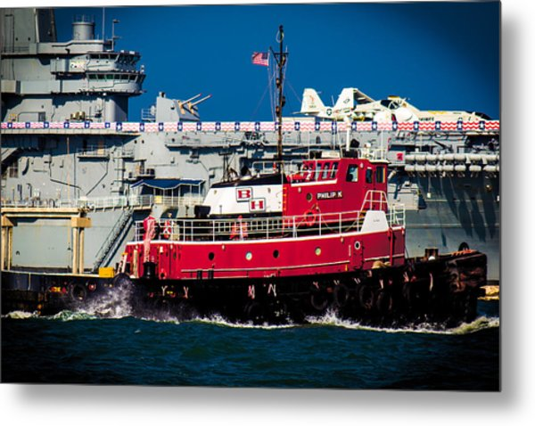 Shipping Lane Hero Metal Print