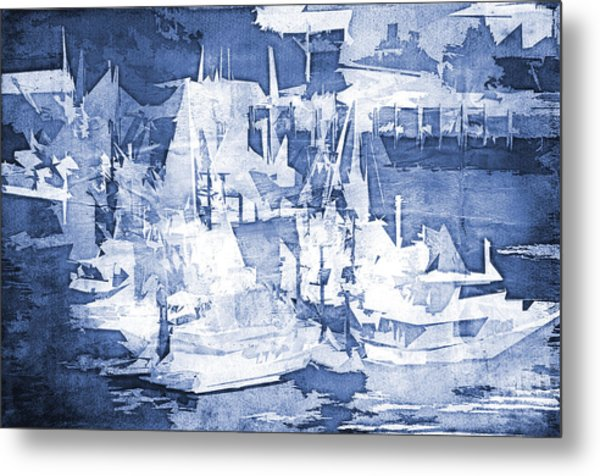 Ships In The Water Metal Print