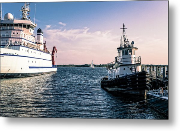 Ships Of Woods Hole Metal Print