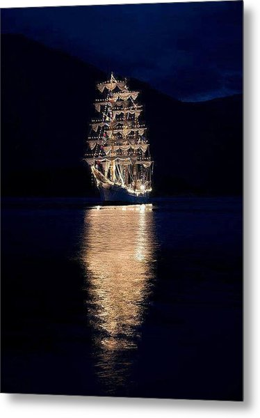 Ships That Pass In The Night Metal Print