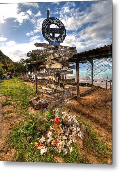 Shipwreck Beach Metal Print