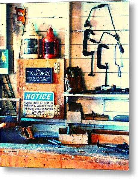 Shipyard Carpentry Metal Print