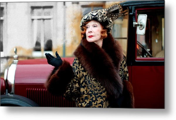 Shirley Maclaine @ Tv Serie Downton Abbey  Metal Print