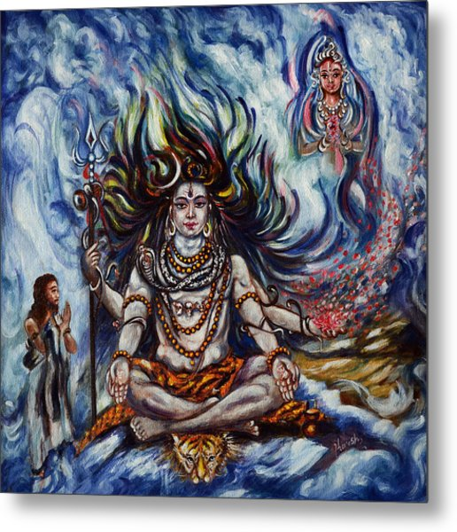 Shiva - Ganga - Harsh Malik Metal Print