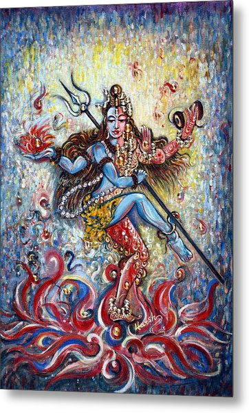 Shiv Shakti Metal Print