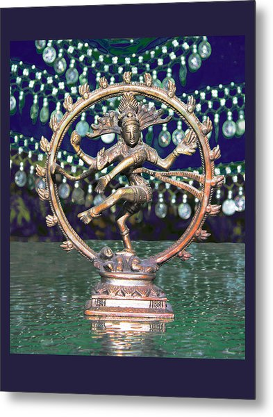 Shiva Upon The Water Metal Print