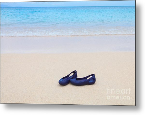 Shoes In Paradise Metal Print