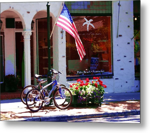 Shopping In The Hamptons Metal Print by Jacqueline M Lewis