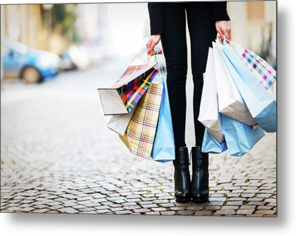 Shopping Metal Print by Larabelova