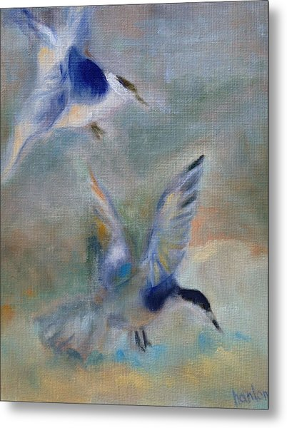 Shorebirds Metal Print by Susan Hanlon
