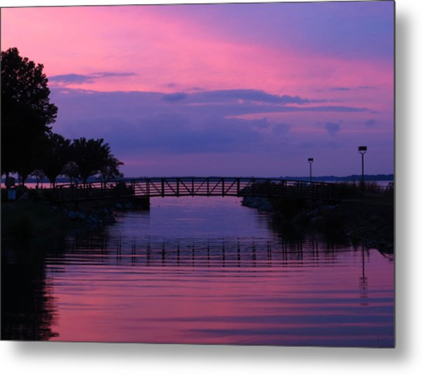 Shoreline Park At Dusk Metal Print