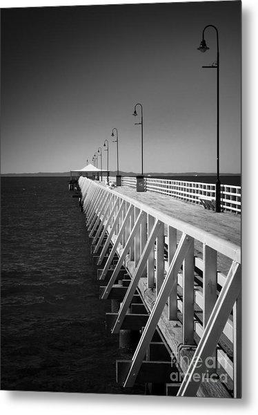 Shorncliffe Pier In Monochrome Metal Print