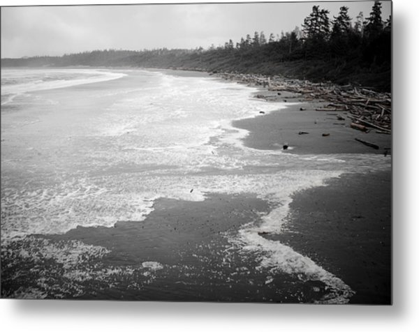 Winter At Wickaninnish Beach Metal Print