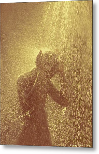 Metal Print featuring the photograph Showers Of Blessings by Grace Dillon