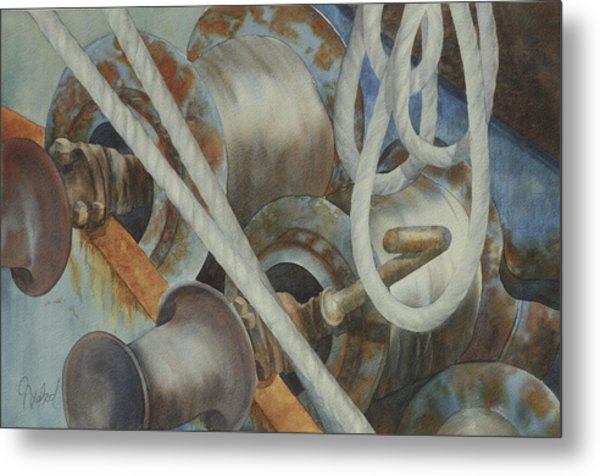 Shrimp Boat - Out Of Service Metal Print