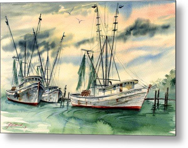Shrimp Boats In The Keys Metal Print