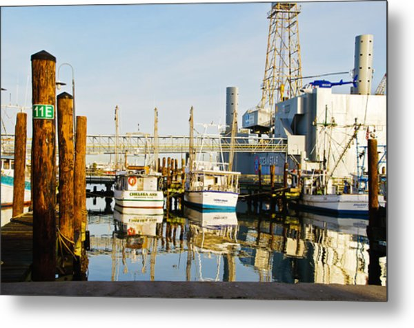 Shrimp Boats Metal Print