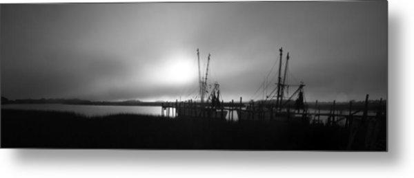Shrimp Trawlers Metal Print
