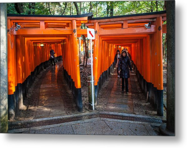 Shrine Walk Metal Print