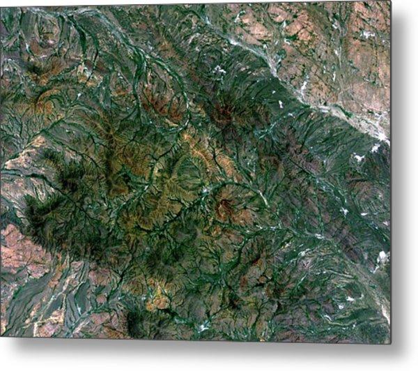 Shunak Crater Metal Print