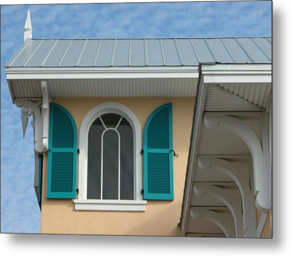 Shuttered Window Metal Print by Valerie Paterson