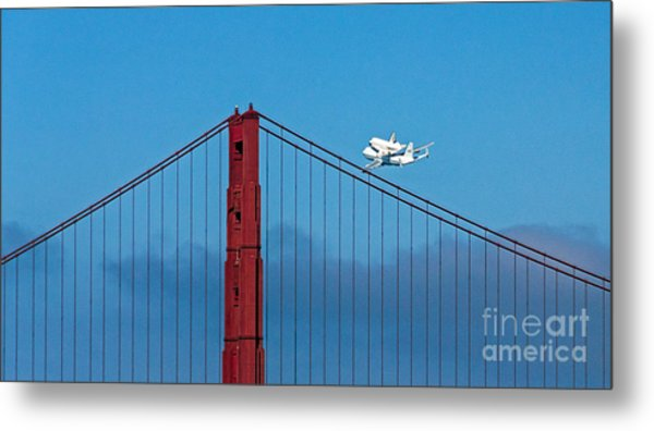 Metal Print featuring the photograph Shuttle Endeavour At The Golden Gate by Kate Brown